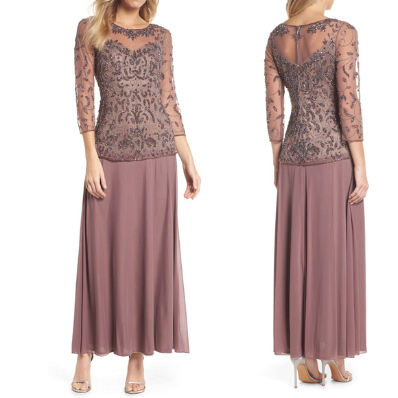 Pisarro Nights Dusty Pink Faux 2 Piece Maxi Dress 4a05efe33